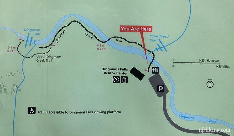 Dingmans Falls trail map