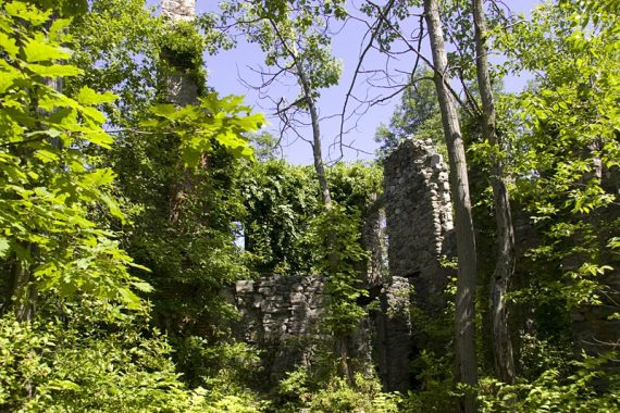 Ruins of Van Slyke Castle on the Castle Trail
