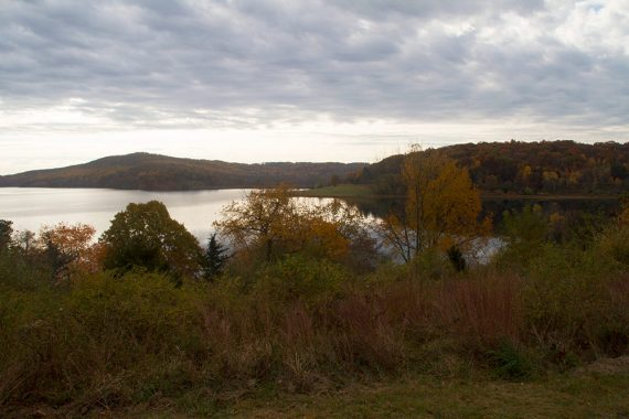 View of Round Valley Reservoir