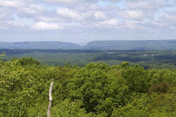 The Delaware Water Gap in the distance.