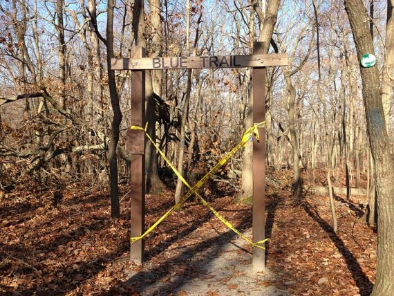 Closed BLUE Trail