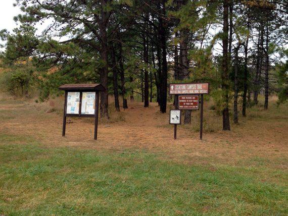 Cushetunk trail signs