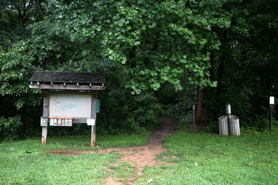 Clayton Park trail sign