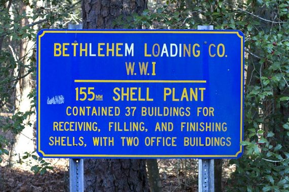 Sign marking the Bethlehem Loading Co remains