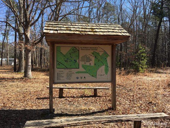 Forest Resource Center trail kiosk