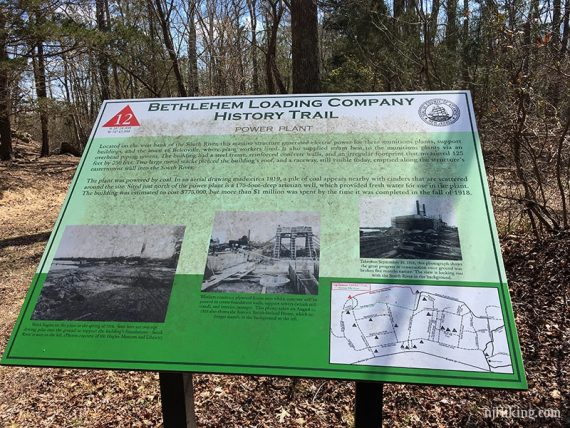 Interpretive sign about the power plant