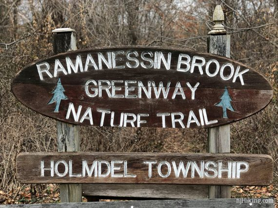 Sign at the end of the Ramanessin trail