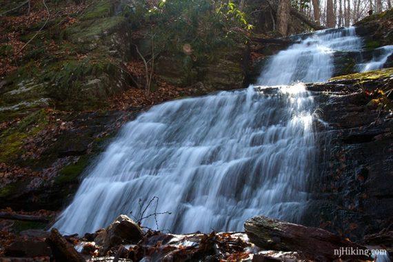 Upper Laurel Falls cascading over rocks