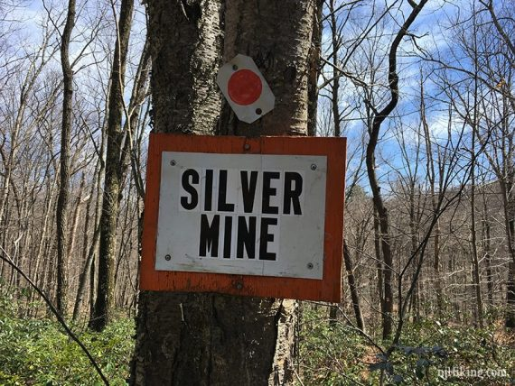 Sign for silver mine