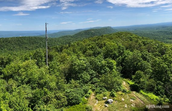 View from the Catfish Fire Tower north over New Jersey