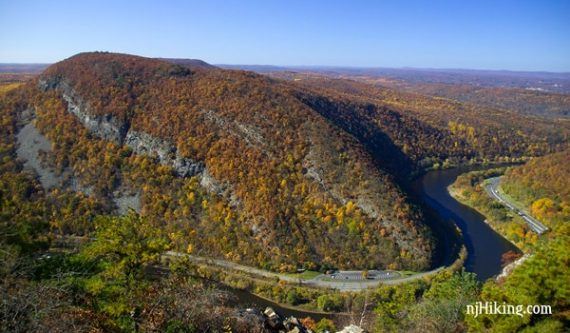 View from the summit of Mount Tammany in Fall