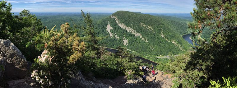 Panoramic view from the summit of Mount Tammany
