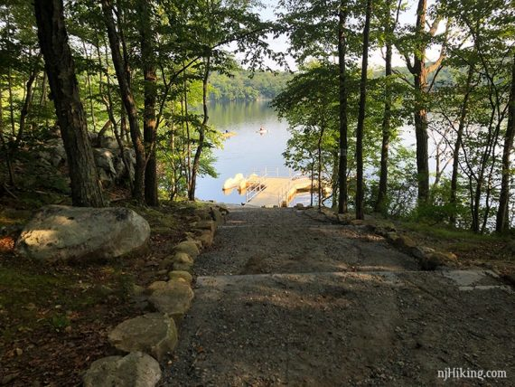 Path to Splitrock kayak launch
