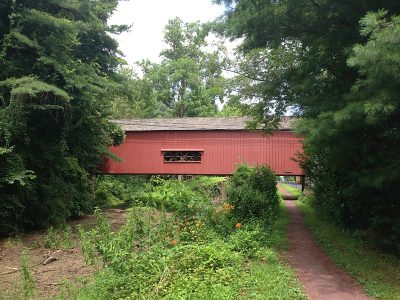 Uhlerstown Covered Bridge from the towpath.