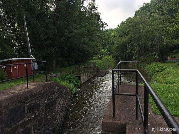 Lock 21 at Durham Aqueduct, facing south