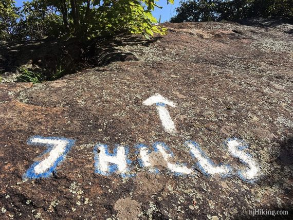 7 Hills painted on rock