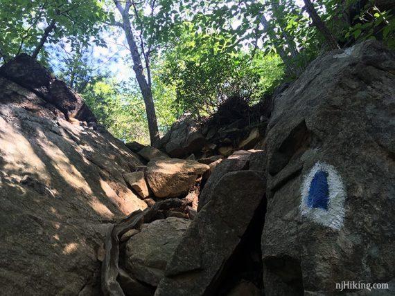 Rock scramble up Seven Hills trail