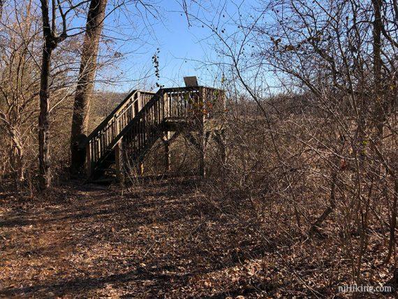 Observation platform in Rogers Refuge
