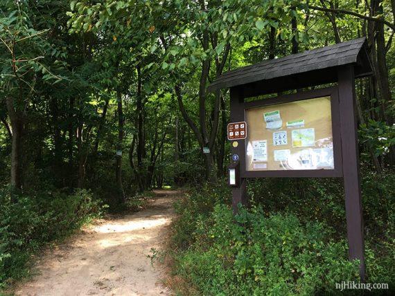 Ireland Brook trail kiosk