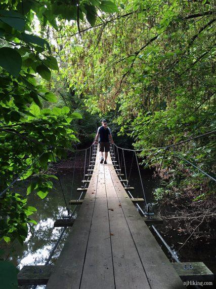 Swinging bridge in Princeton New Jersey