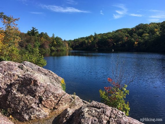 Fall color starting to appear at Terrace Pond.