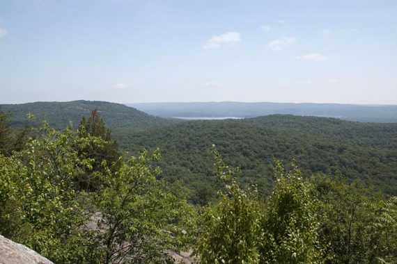 Osio Rock has 360 degree views - Wanaque Reservoir in the distance.