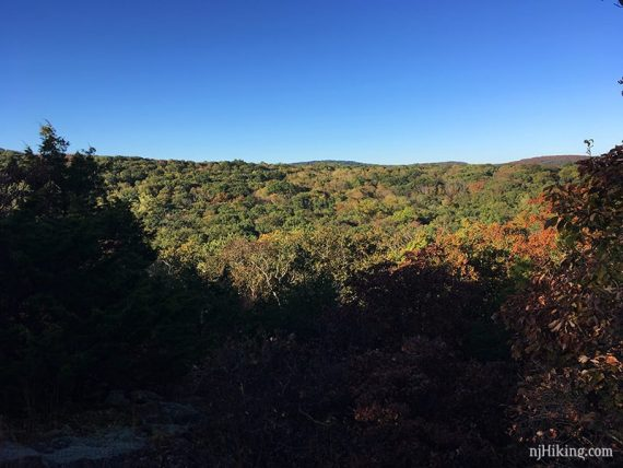 Limited overlook on white trail