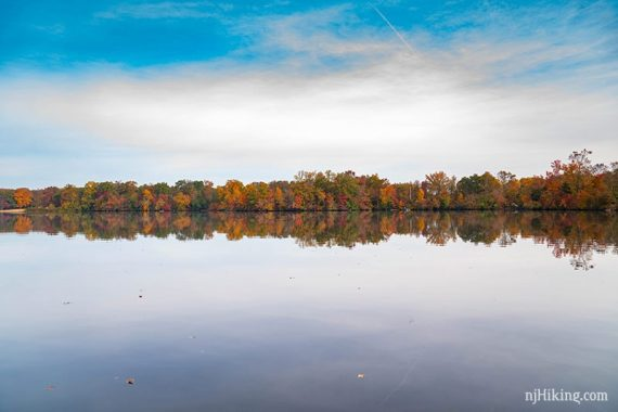 Fall color at Parvin State Park