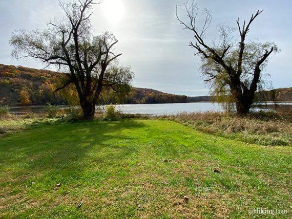 Grassy area long Allamuchy Pond
