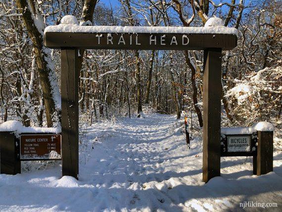 Snowy trailhead