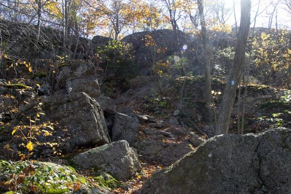 Rocky scramble on the BLUE trail