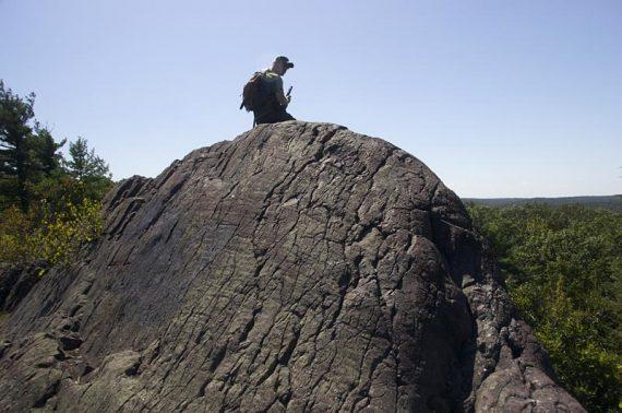Large protruding rock