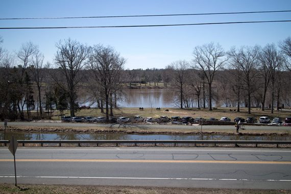 View of the Delaware River from the overlook right at the beginning.