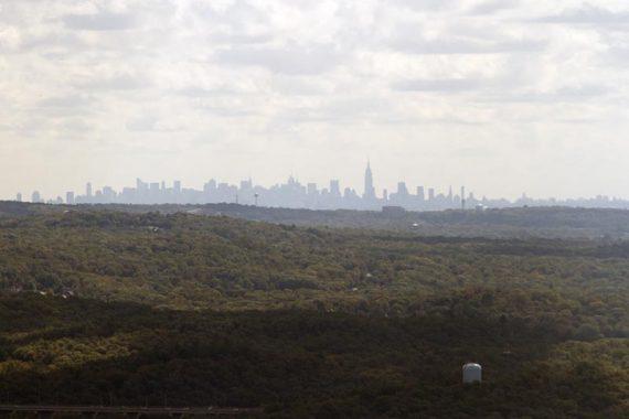 View from Wyanokie High Point of the NYC skyline