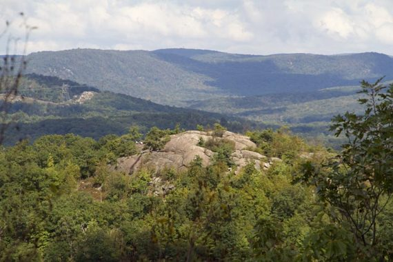 View of Wyanokie High Point from Carris Hill