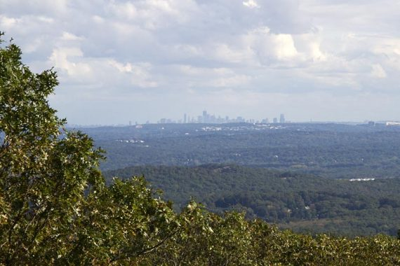 View of NYC from Buck Mountain
