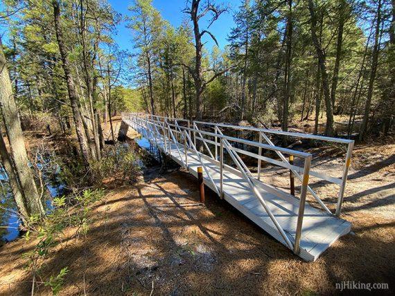Bridge to Mullica River trail
