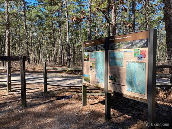 Wharton State Forest map signs