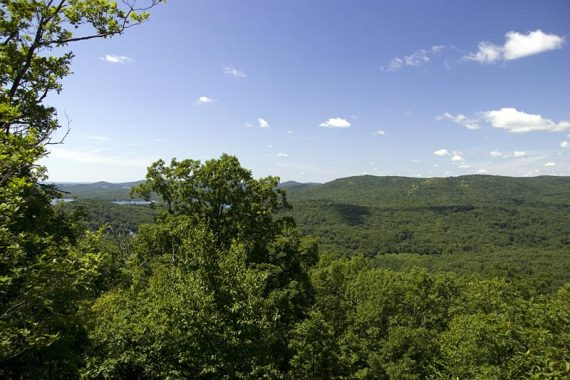 The first of many views; this is as you climb Windbeam Mountain