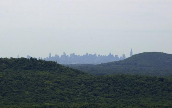 NYC Skyline in the distance, from Windbeam Mtn.