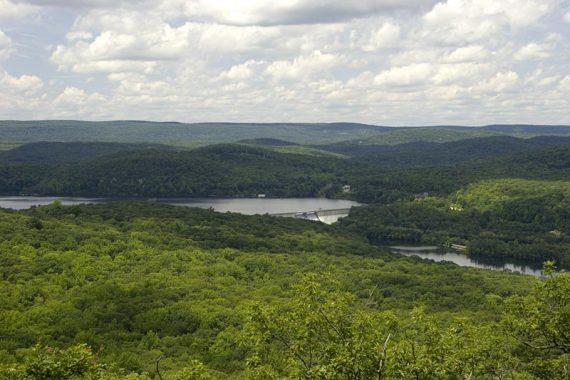 Monksville Dam and Reservoir, seen from Board Mtn.
