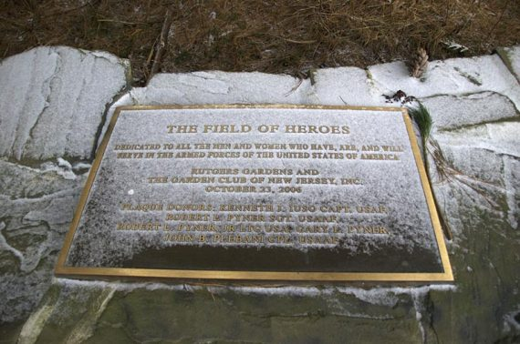 Field of Heroes plaque