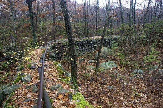 Trail is on a pipeline berm