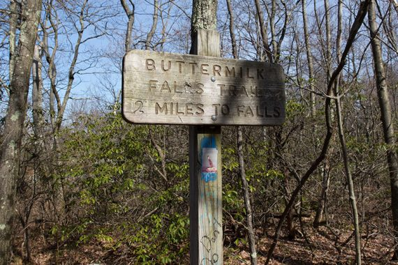 Sign for Buttermilk Falls