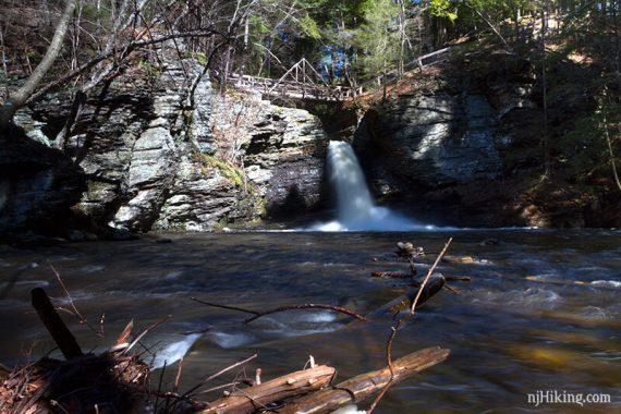 At the base of Deer Leap Falls