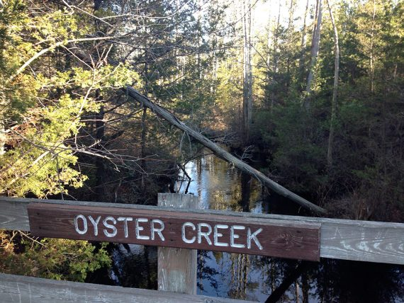 Crossing Oyster Creek again