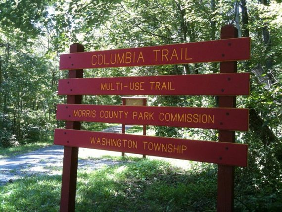 Columbia Trail sign