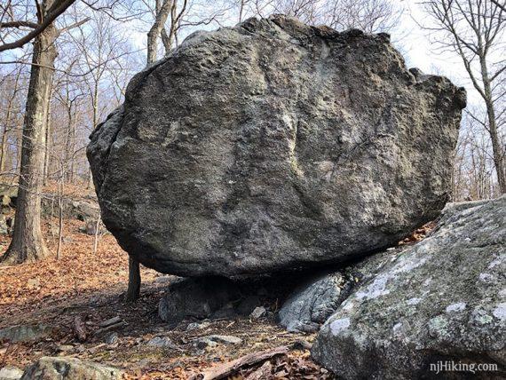 Mouse balancing rock