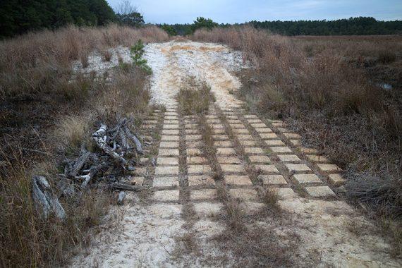 Cement blocks - GREEN trail