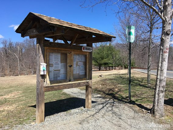 RED trail head kiosk